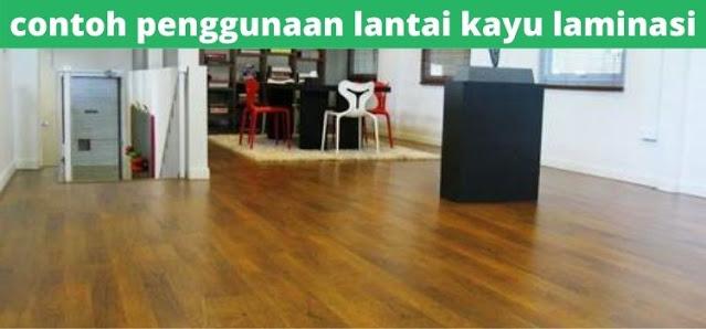 contoh penggunaan lantai kayu laminasi