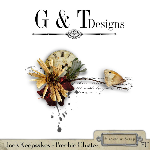 G&T Designs - Freebie Cluster - Joes Keepsakes