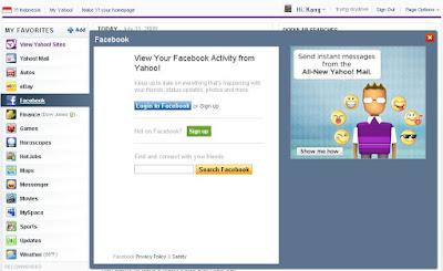 melihat aktivitas facebook dari yahoo