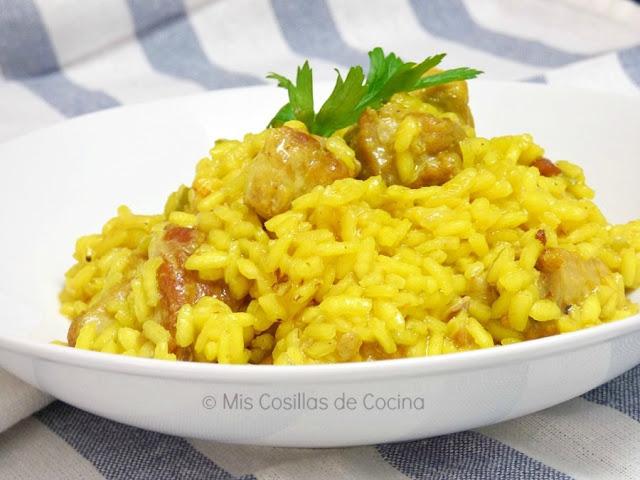como preparar arroz con costilla