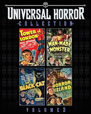 Cover art for Scream Factory's UNIVERSAL HORROR COLLECTION: VOLUME 3!