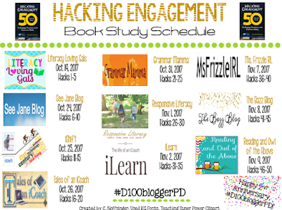 #D100bloggerPD's Book Study on Hacking Engagement: 50 Tips & Tools to Engage Teachers and Learners Daily, Hacks 16 - 20