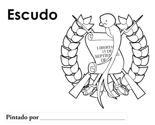escudo nacional Guatemalapara colorear