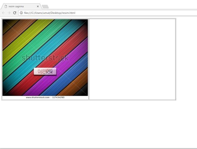 html resim cagirma