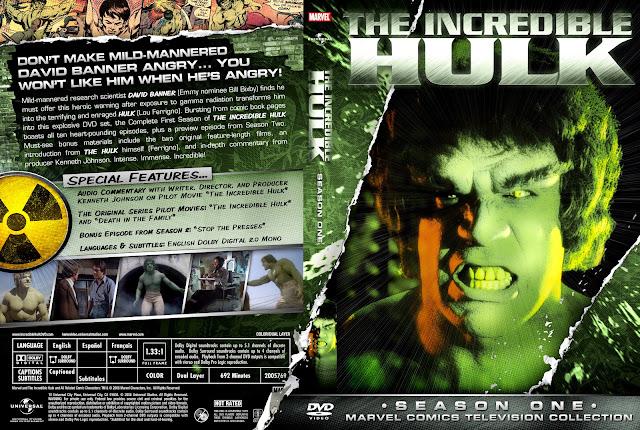Capa DVD The Incredible Hulk Primeira Temporada Completa