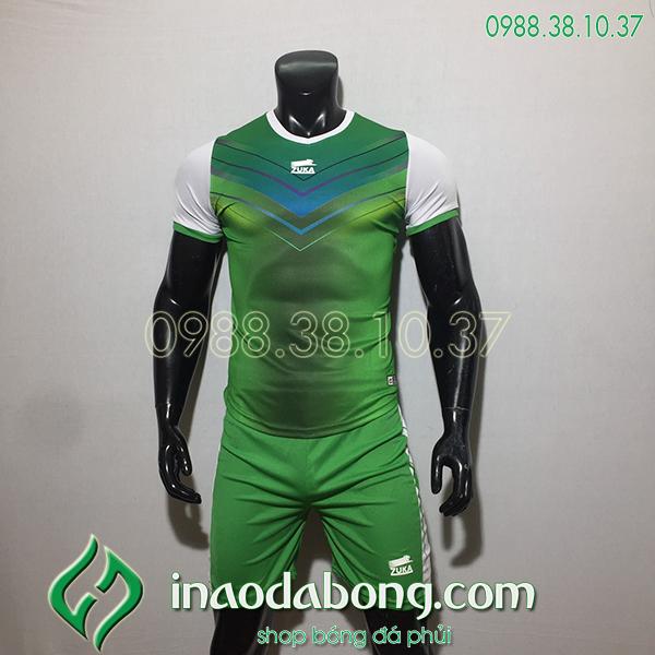 Áo bóng đá ko logo Zuka Mon màu xanh lá