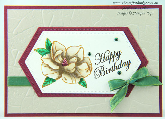 #thecraftythinker #stampinup #magnoliablooms #cardmaking , Magnolia Blooms, Stitched Nested Labels Dies, Stampin' Up! Demonstrator, Stephanie Fischer, Sydney NSW