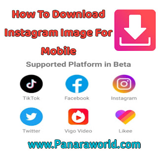 How To Download Instagram Image In Mobile ( VIDMX Apps )