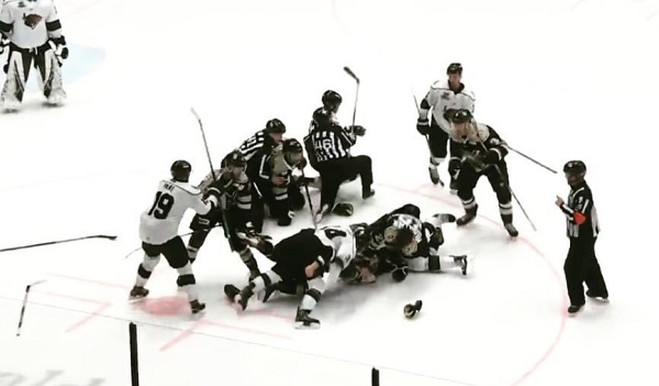 Nailers Grizzlies Donnybrook ECHL Fight