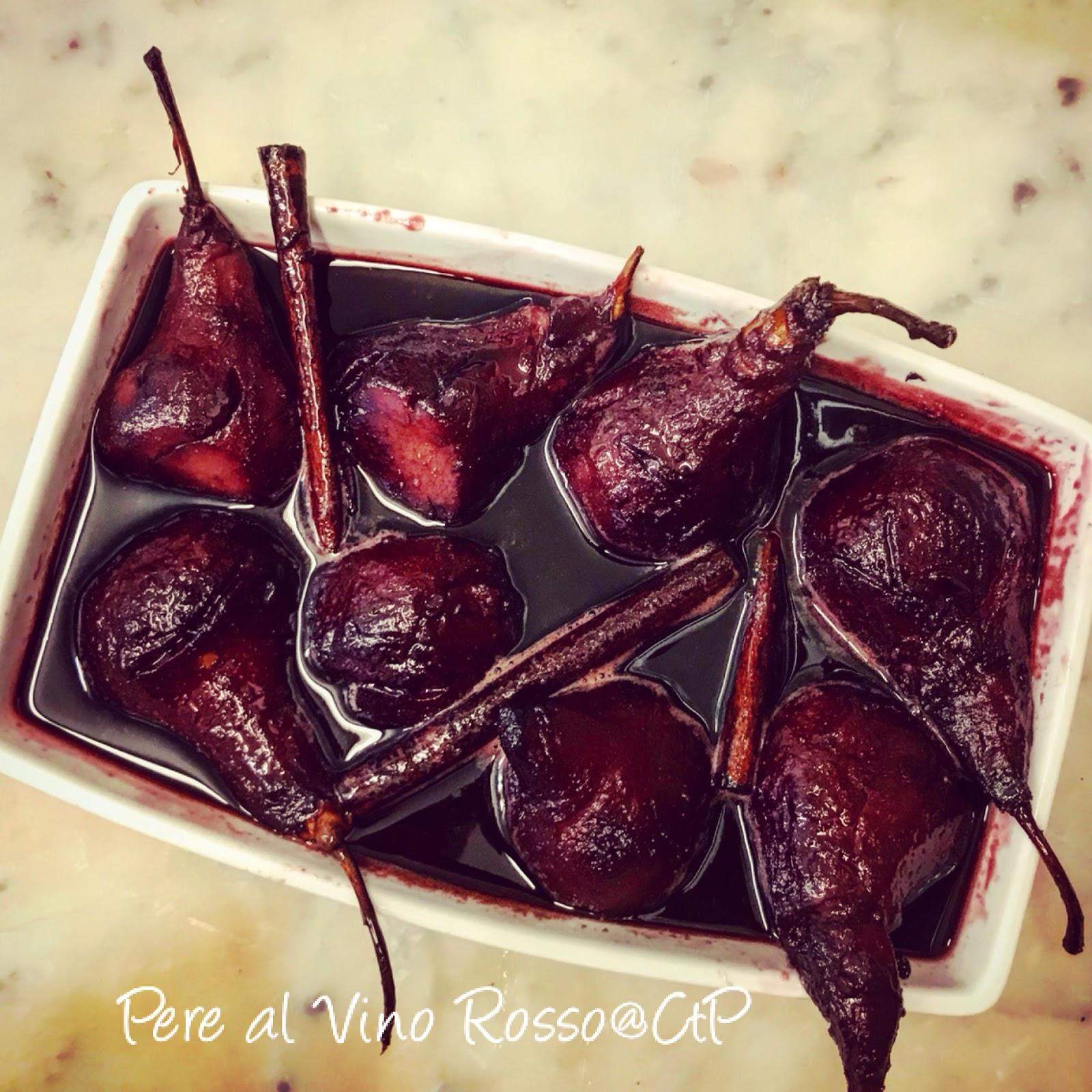 pere al vino rosso cannella e clementini  alessandra ruggeri