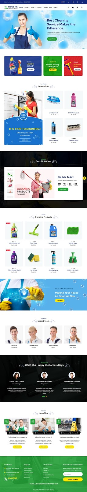 Download Cleaning Shopify Theme