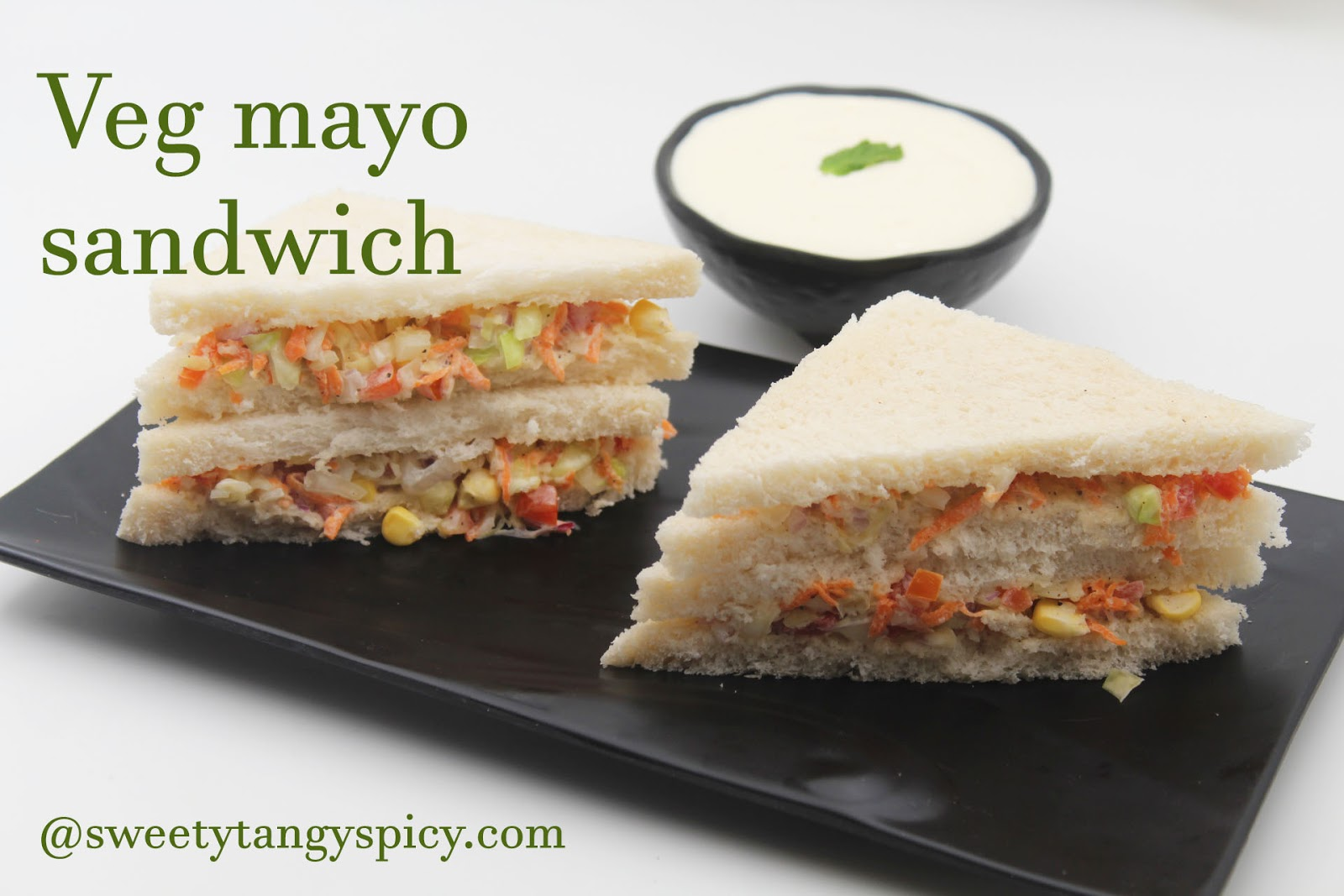 Sweety Tangy Spicy Mayonnaise Sandwich Recipe Veg Mayo Sandwich Recipe Veg Mayonnaise Sandwich Recipe