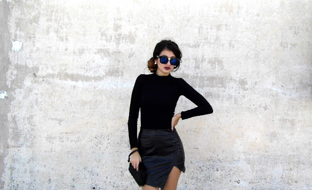 black textures outfit ideas