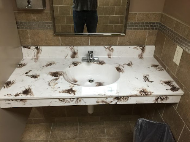 Not Exactly The Color Pattern You Like To See In A Bathroom