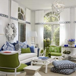 Ideias de cores vivas para decoração de interiores