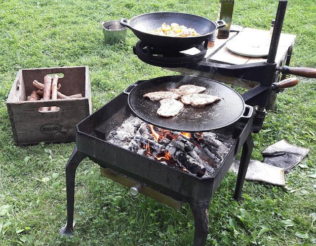 Kokkaaminen kesäkeittiössä