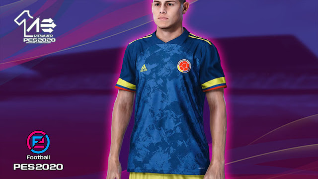 PES 2020 Colombia 2020 Kit Away by AerialEdson