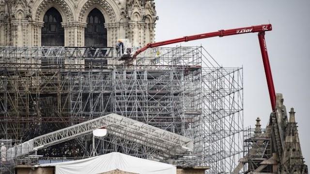 Notre-Dame: comienzan a eliminar los andamios derretidos