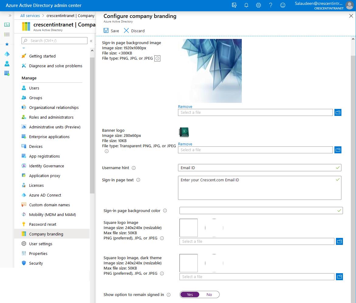 Office 365 login page background image, logo