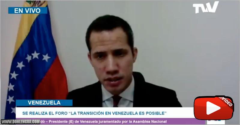 Presidente Juan Guaidó dijo : Lo que la gente ya está cansada de oír todos los días