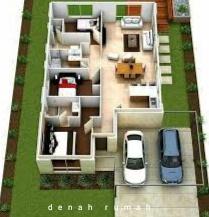 desain rumah 3 kamar tidur