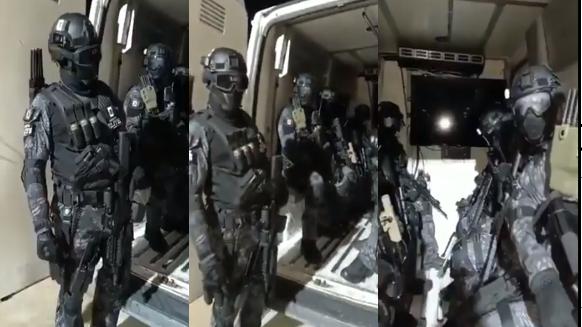 Video: CJNG muestra como patrulla la plaza al estilo James Bond con equipo táctico y uniformes de ultima generación en Naucalpan, Estado de México