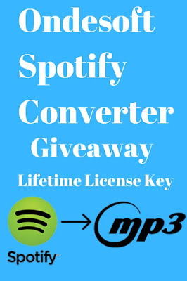 Ondesoft Spotify Converter Giveaway Activation Key