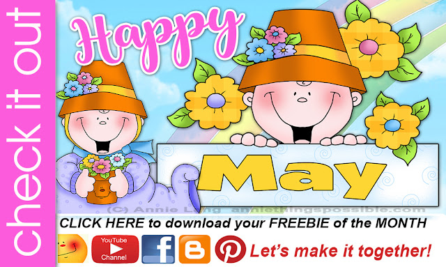 Download Annie Lang's FREEBIE monthly project.
