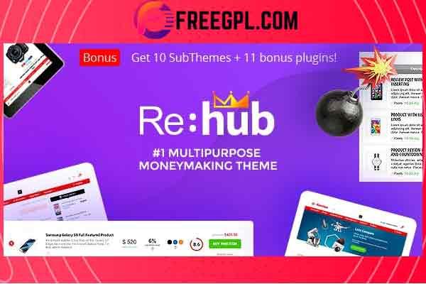REHub– Hybrid WordPress Theme Free Download