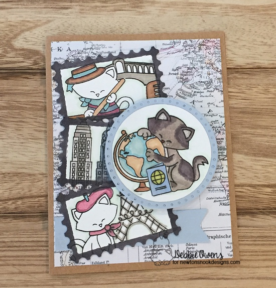 Debbie's card features Newton's Graduation, Newton Dreams of Italy, Newton Dreams of Paris, Newton Dreams of New York, and Framework by Newton's Nook Designs; #newtonsnook
