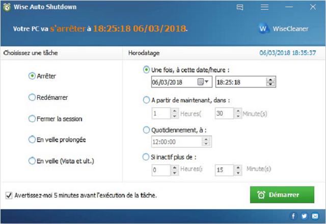 تحميل برنامج Wise Auto Shutdown لإيقاف تشغيل جهاز الكمبيوتر بشكل أوتوماتيكي مجانا آخر إصدار