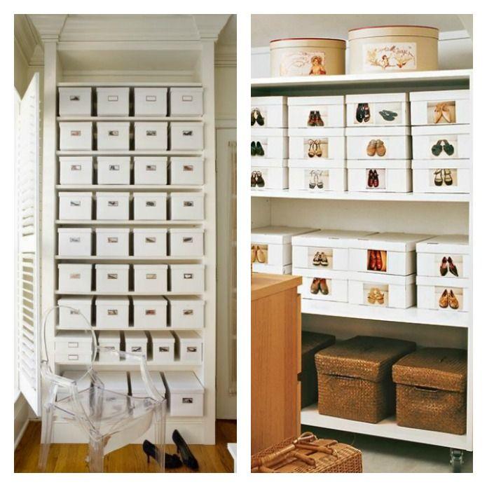 cajas de cartón para ordenar zapatos