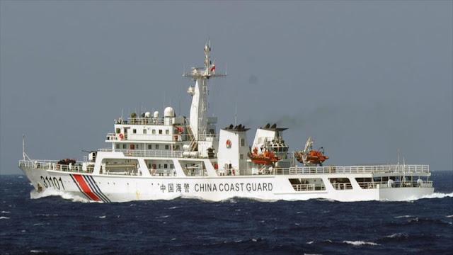 Armada china realiza patrullas récord en aguas en disputa con Japón