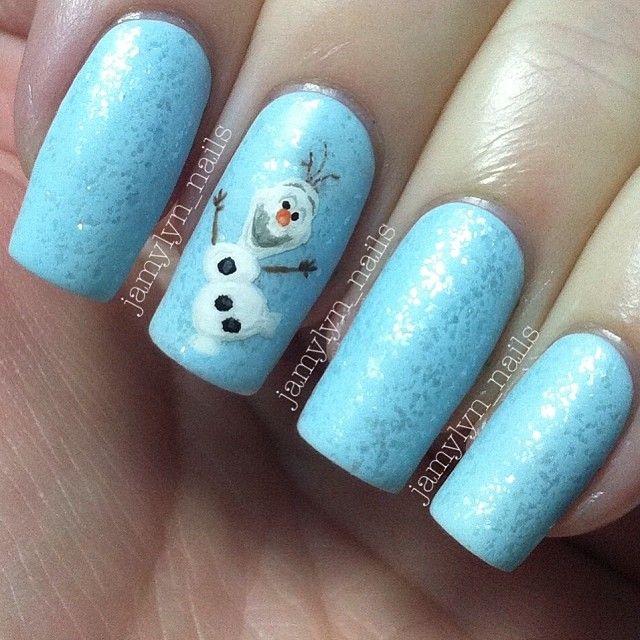 Dise 241 O De U 241 As Frozen Disney Nail Art Ideal Para Navidad Dise 241 Os De U 241 As Decoradas з