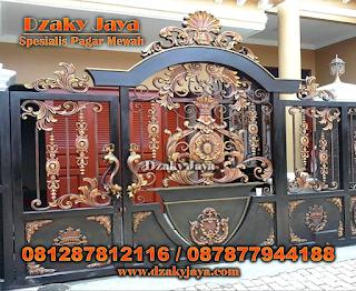 Contoh Pintu Gerbang Besi Tempa Klasik, Pintu Gerbang Klasik, Harga Pintu Gerbang Besi Tempa.