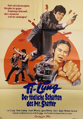 Ti Lung - Der tödliche Schatten des Mr Shatter, German film poster