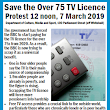 Save the over 75 TV licence
