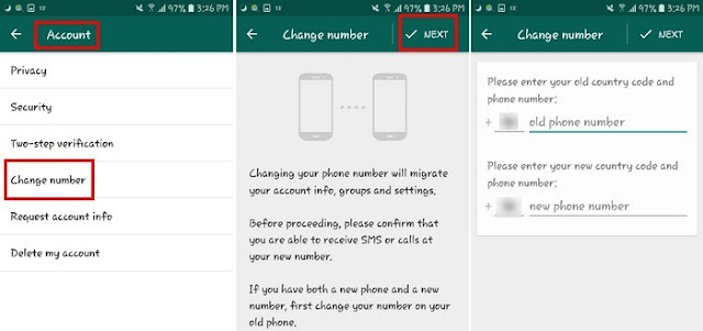 خطوات تغيير رقم الواتساب بدون مشاكل