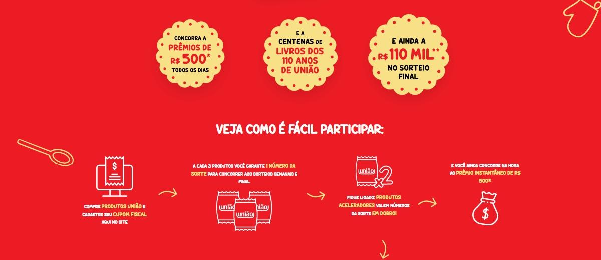Promoção Açúcar União 2021 Produtos, Prêmios, Cadastrar, Participar