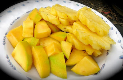 Pineapple and other fresh fruit available
