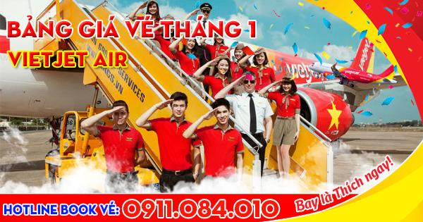Giá vé máy bay Vietjet Air tháng 1