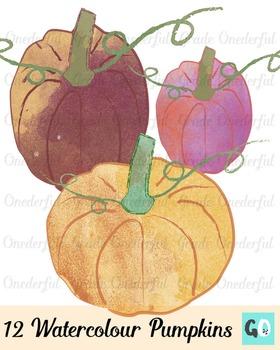 https://www.teacherspayteachers.com/Product/Watercolor-Pumpkin-Clipart-2146761