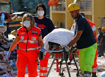 Amatrice, földrengés, Olaszország, olaszországi földrengés, természeti katasztrófa