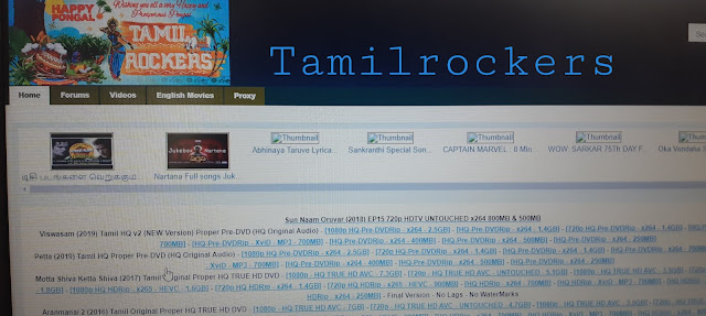 Tamilrockers All 234 Domains Till 2020