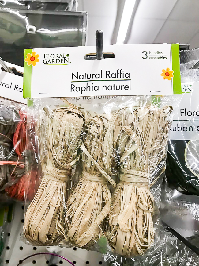 Dollar tree natural raffia