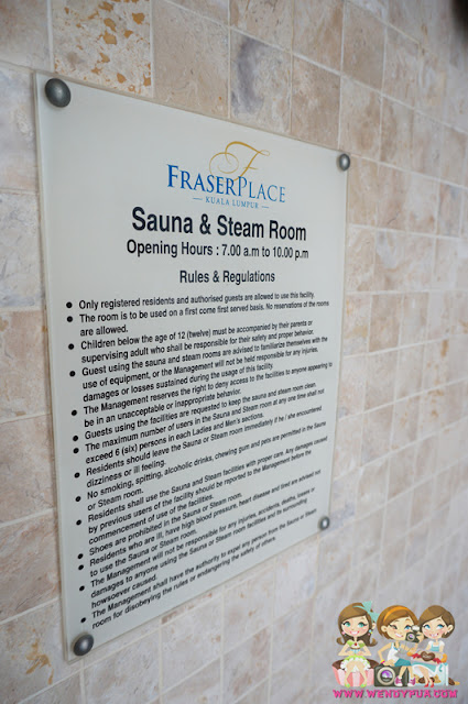 fraser place apartment Sauna & Steam Room