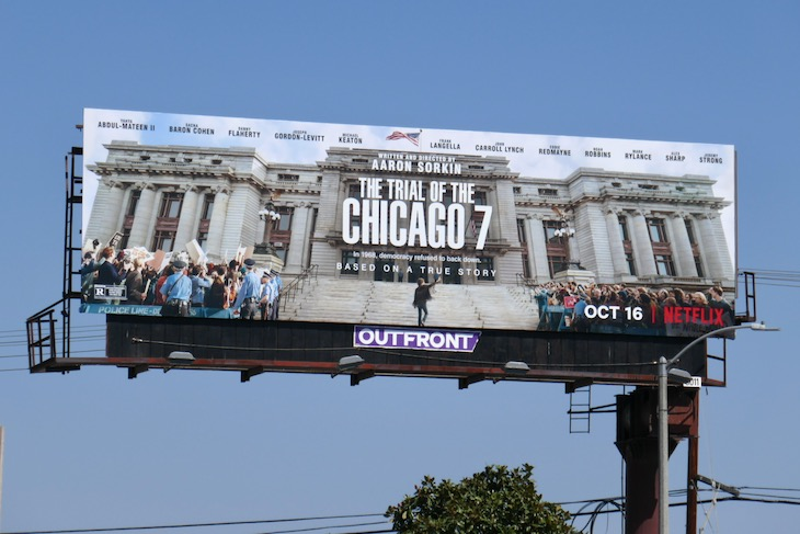 Trial of the Chicago 7 film billboard