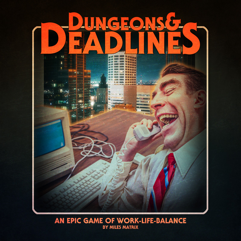 Imagine a world where you sell your labour power for less than the value produced by your labour, and your company profits from this surplus value. Welcome to Dungeons & Deadlines, a card game where you have to balance work and life, success and sanity, career and family to survive. How long will you last? Will you burn out or fade away?