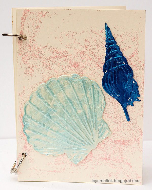 Layers of ink - Glitter Notebooks.