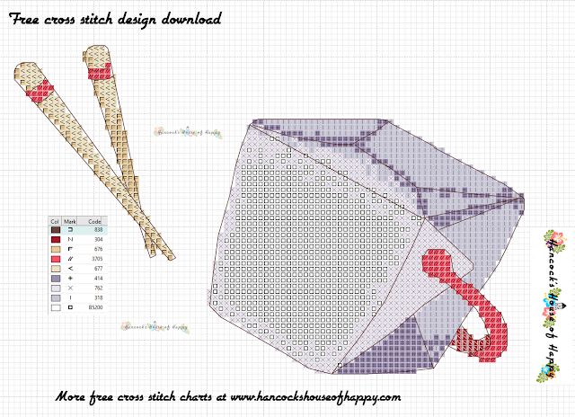 Chinese Takeout Box Cross Stitch Pattern Free to Download